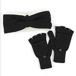 BEARPAW Headband and Pop-Top Mitten/Glove Set